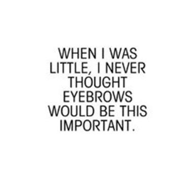 eyebrowsareimportant